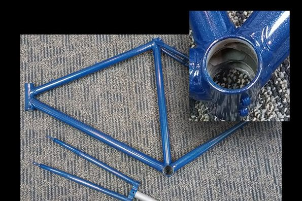 Powder coating bicycles and bike parts