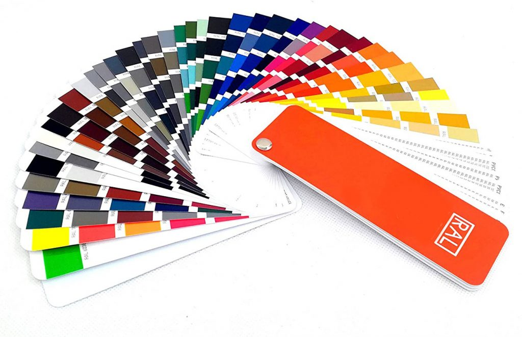 RAL powder coating color chart