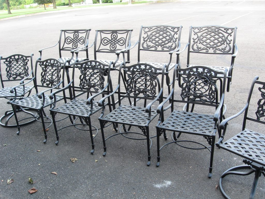 patio furniture powder coated