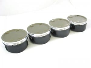 High performance ceramic coated pistons